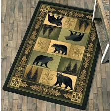 rustic chic area rugs whitetail deer rug large geography themed nursery complete with world map black bear decor clearance decorating styles furniture dubai