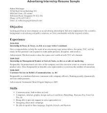 Resume Template For Internships For College Students Sample