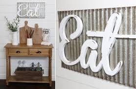 corrugated metal eat sign