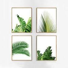 set of 4 tropical leaves leaf prints set green wall art minimalist posters palm leaf banana leaf tropical wall art nordic nature prints on tropical wall art sets with botanical print sets of leaf art watercolor kitchen art set of