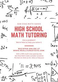 Tangerine Math Patterned Tutor Flyer Templates By Canva