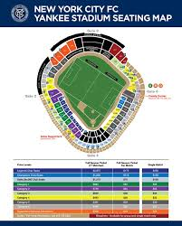 Yankees Seating Price Chart Fans Guide To Nycfc Seating At Yankee Stadium Nycfc Nation