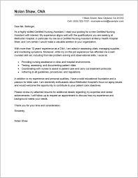 Free Sample Cover Letter Certified Nursing Assistant Cover Letter
