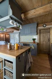 English Country Kitchen Design Inspiration Ateliér Gabryš Roubený Dvojdům Bývalá Hájovna Cottage Kitchen