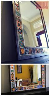 glue tiles of your choice and turn any mirror into a beautiful work of art