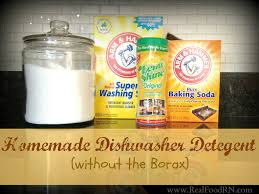 homemade dishwasher detergent without borax works really well especially with hard water