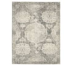 barret printed rug gray