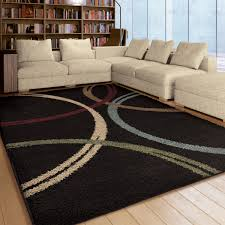 Modern Area Rugs For Living Room Floor Appealing Black Shag Area Rugs Design Ideas For