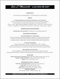 Sample Cosmetology Resume Enchanting Cosmetology Instructor Resume Examples Cosmetology Resume Lespa