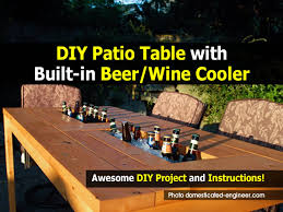 Diy Patio How To Make A Diy Patio Table With Built In Beer Wine Cooler