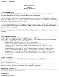 cv pharmacy pharmacy technician cv example icover org uk