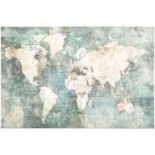 world map canvas wall decor