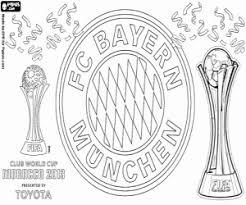 Kleurplaat Bayern Wereldkampioenschap Club 2013 Kleurplaten