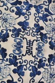 chinoiserie chinese blue and white rug for