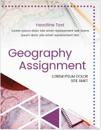 Cover For Assignment Template Geography Assignment Cover Pages Ms Word Cover Page Templates