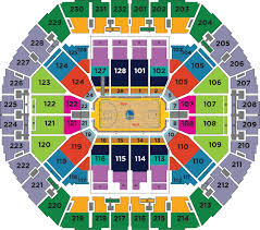 Oakland Arena Seating Chart Mini Plans Golden State Warriors