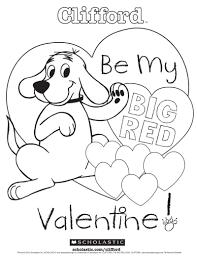 valentine coloring.  Valentine Cliffordu0027s My Big Red Valentine Coloring Sheet On R