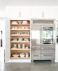kitchen pantry with pull out shelves