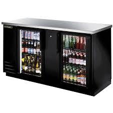 tbb 3g ld true 69 glass door back bar cooler
