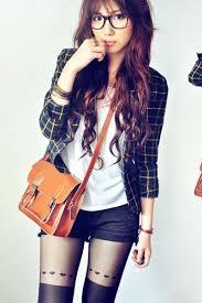 cute girl ideas cool lime green shoes green blazer ivory shirt burnt orange bag black short