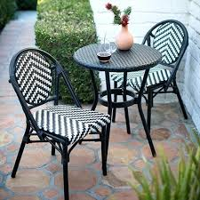 trees and trends patio furniture. Contemporary Trends Trees And Trends Patio Furniture Black White Outdoor Bistro Set  For Trees And Trends Patio Furniture