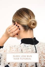 Hair Style Low Bun sleek low bun hair tutorial with nexxus brooklyn blonde 3437 by wearticles.com