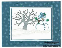 Stampin Up Seasonal Decorative Masks Handmade card using Stampin' Up products Christmas Magic Stamp 74