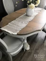 restoration hardware inspired dining set cece caldwell s beechnut gray stain and finish top paired with