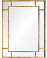 gold bamboo mirror. Gable Regency Distressed Gold Leaf Iron Bamboo Mirror
