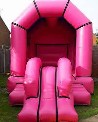 Pink Bouncy Castle Slide Combo Better Bounce
