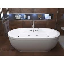 simple freestanding tub with jets