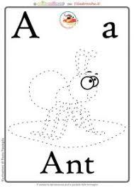 Schede Alfabeto Inglese Da Stampare Lettera A