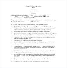 Template Of A Contract Between Two Parties Free Contract Agreement Template Between Two Parties Myexampleinc