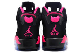 air jordan shoes for girls black. girls new air jordan 6 retro gs black fusion pink for sale online-3 shoes r