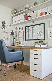 Home office desk with storage Corner Office Desk Ideas Pinterest Furniture For Home Office Check More At Http The Container Store 42 Amazing Home Office Ideas Design Home Office Ideas