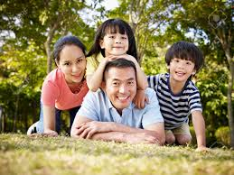 Family Picture Family With Two Children Stock Photos Royalty Free Family With