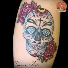Mexican Skull Eseguito Da Simone Asta All Ink Shop Tattoo Faenza
