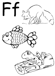Free Coloring Pages Of Letter F Worksheets, Letter F Coloring ...