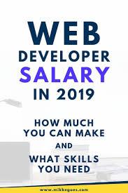 Web Designer Salary Web Developer Salary In 2019 How Much Do Web Developers