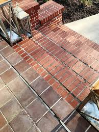 diy painted brick steps and porch