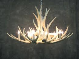 chandeliers faux antler chandelier lighting awesome for modern room ideas white deer pertaining to can