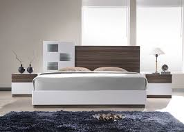 Reggo Walnut & White Bedroom Modern Bedroom Sets