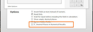 for now you may consider using the advance option decimal places to zero