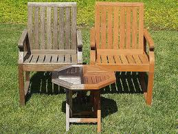 multiple levels of sanding may be required with older furniture that has raised grain once the teak is red to its natural state we apply a sealer for