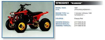 Yamaha Atv Vin Chart Vehicle Identification Number Indonesia Yahoo Vin Check