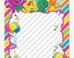 barney party invitation template barney invitation etsy