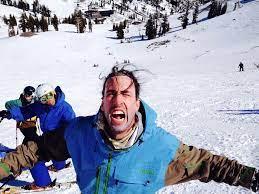 Andy Hays has long hair. - SnowBrains