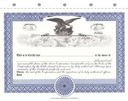 Stock Certificats Amazon Com Corpex Blank Stock Certificates With Eagle Pack Of 25