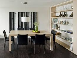 Minimalistic dining table idea for small apartment