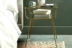 gold and glass nightstand gold bedside table nightstand with glass lamps black and gold glass nightstand